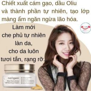 Kem Dưỡng Trắng Cám Gạo NeOgani Rice Bran Snow Whitening Cream
